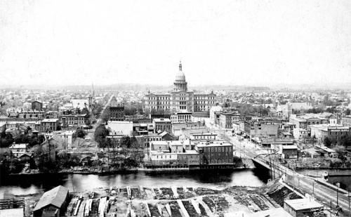 STANDPIPE VIEW OF LANSING LOOKING WEST, C. 1890s.