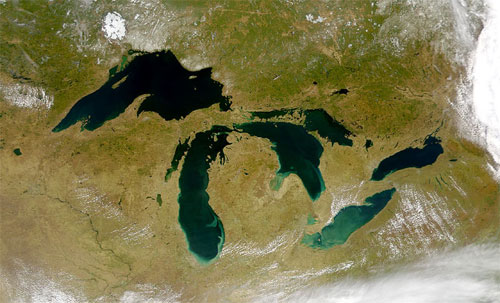 Michigan and the Great Lakes from Space