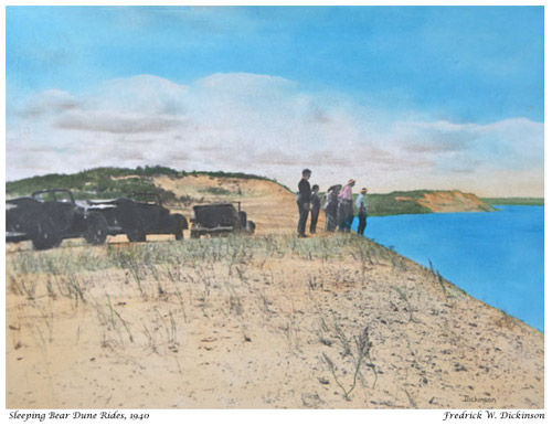 Sleeping Bear Dune Rides, 1940, photo by Fred Dickinson