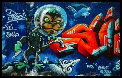 Detroit Scribe Tribe Space Monkey