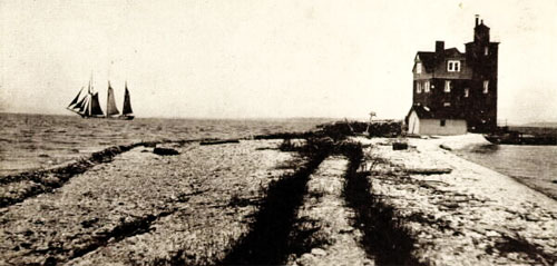 Round Island Lighthouse, c 1920