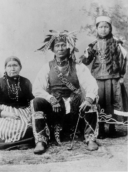Chief David Shoppenagon with wife & child