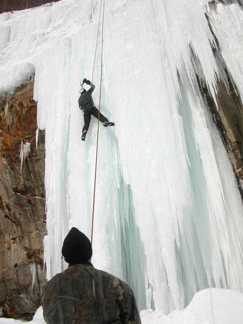 Ice Climbing on Grand Island