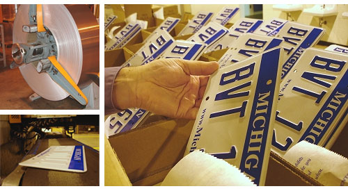 Inside the Michigan License Plate Factory