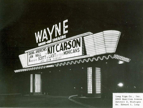 Wayne Drive-In Theatre Marquee - Wayne, Michigan