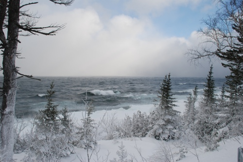 Lake Superior Shore in Winter