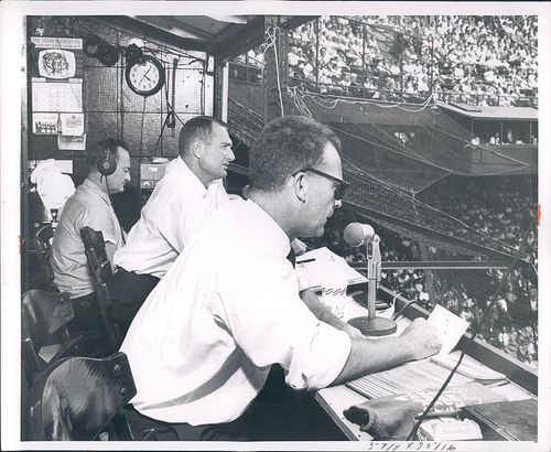 Ernie Harwell & George Kell broadcasting for the Detroit Tigers