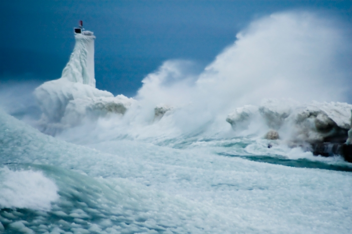 Furious Lake Michigan