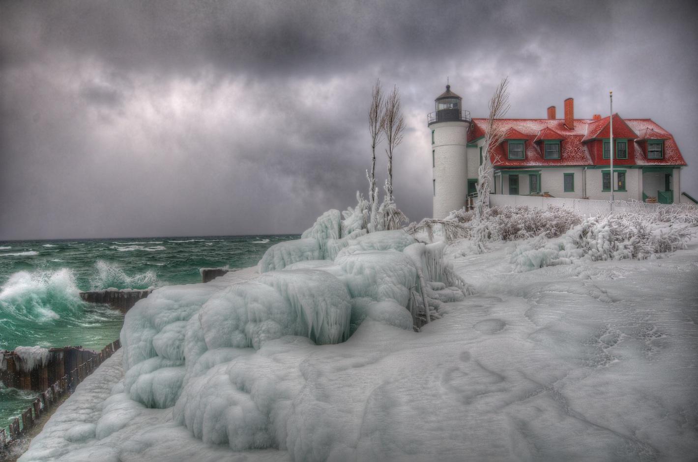 Point Betsie Lighthouse Winter