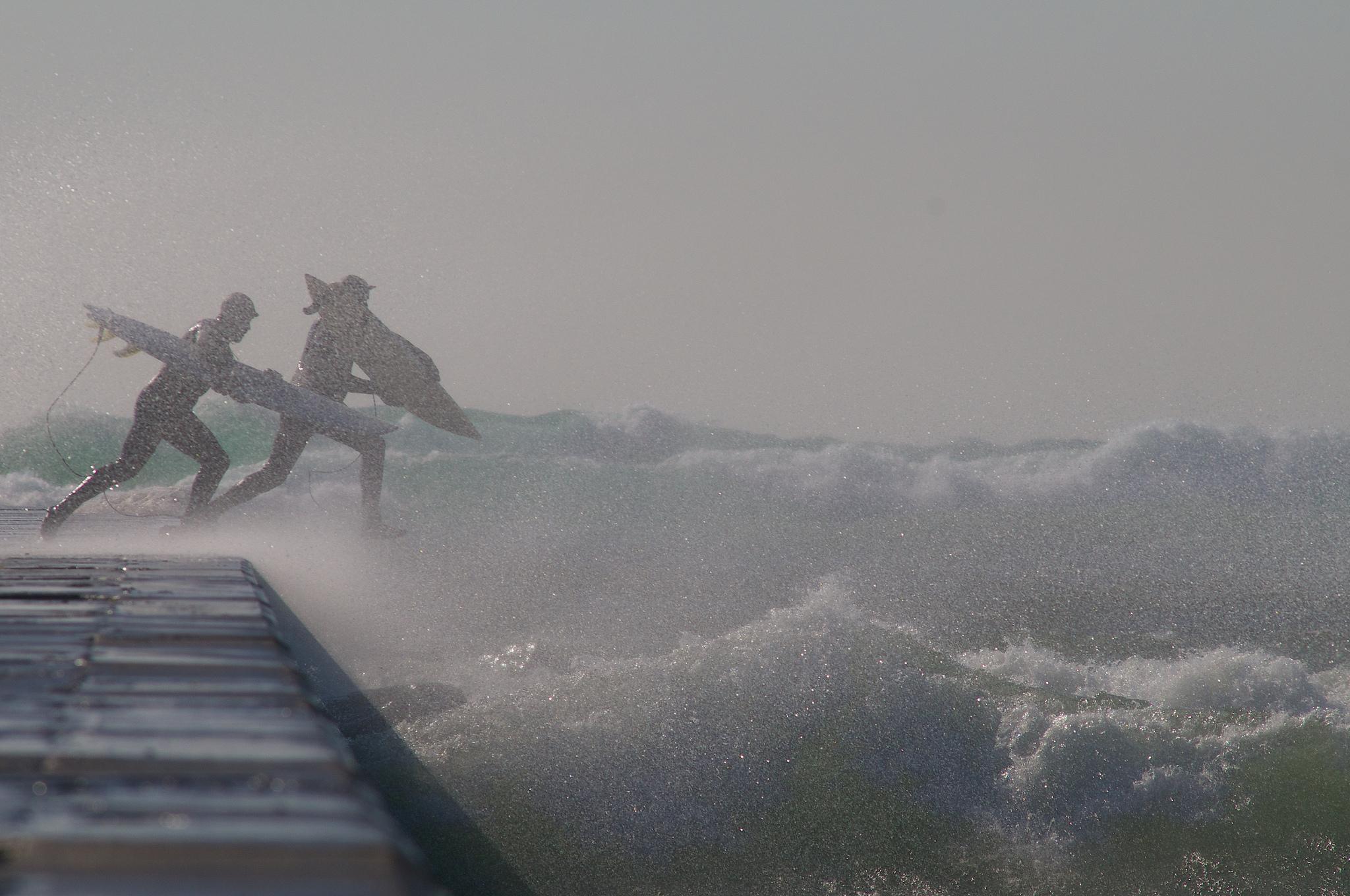 Frankfort Winter Surfing