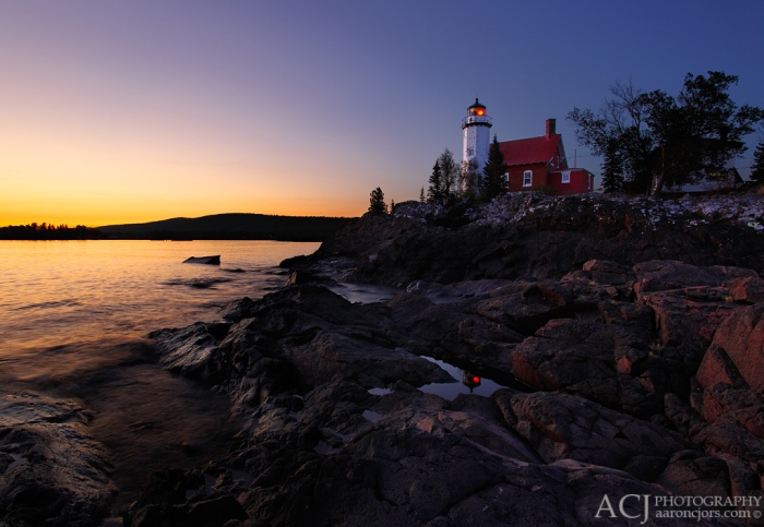 Eagle Harbor Lighthouse Sunset