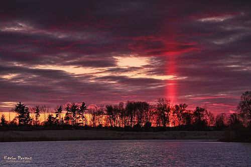 Sunset - Sun Pillar