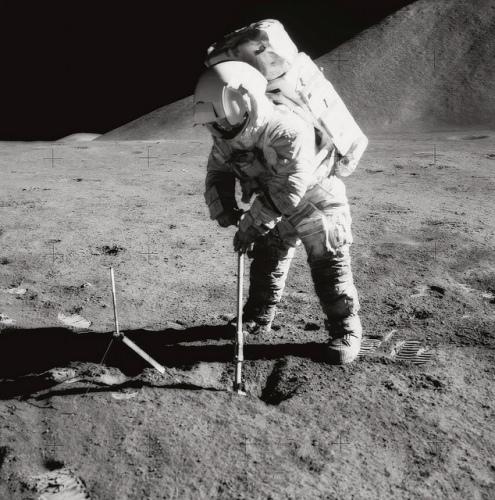 Apollo 15: Irwin Scoops up Soil