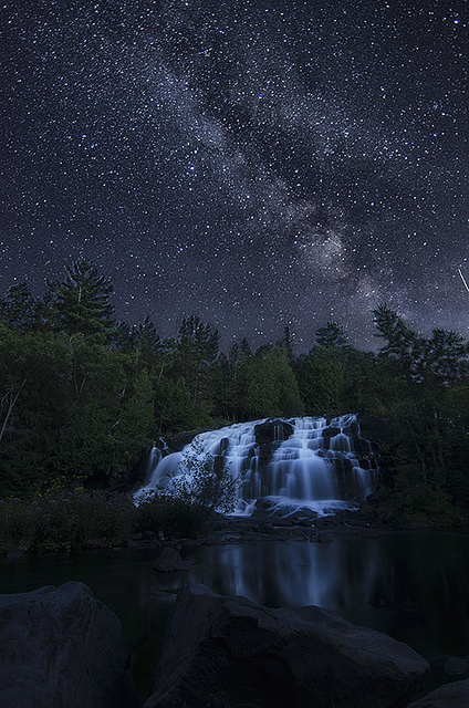 The Bond Falls under the Milky Way