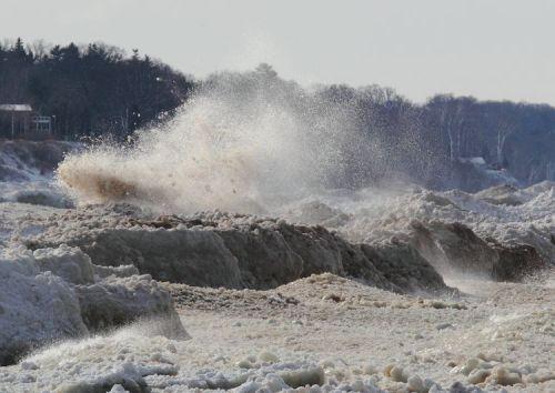 Lake Michigan Ice by Tim Wenzel
