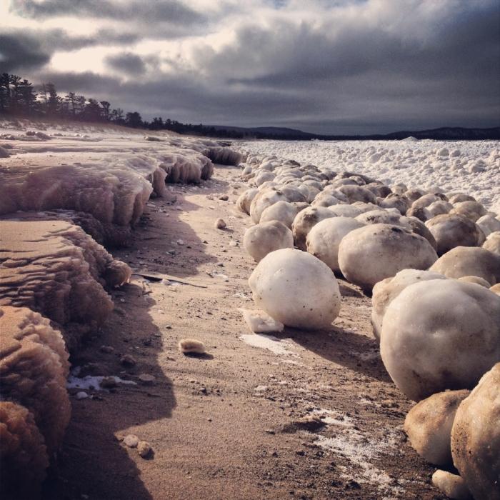 Ice Boulders by Leda Olmstead