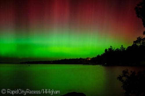 Aurora over Torch Lake