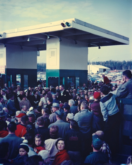 Opening of Mackinac Bridge - November 1, 1957
