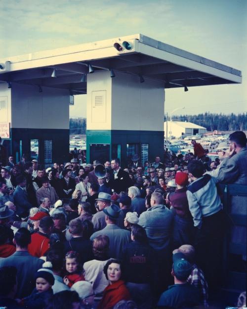Opening of Mackinac Bridge - November 1, 1957