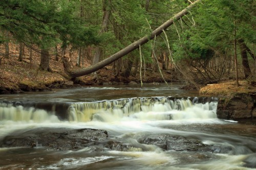 Black Slate Falls, Baraga County, MI, April, 2010