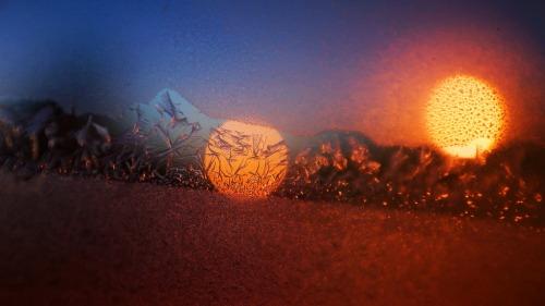 Iced Light in Polar Vortex Night @ -20 °C (-4 °F)
