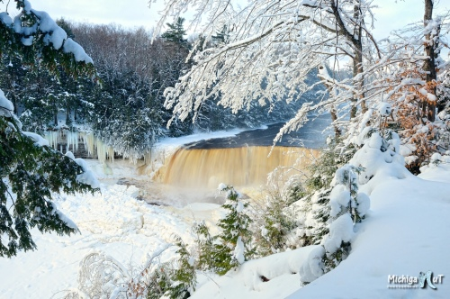 Winter at Tahquamenon Falls Michigan's Upper Peninsula