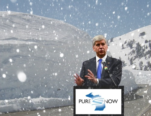 Rick-Snyder-announces-Pure-Snow