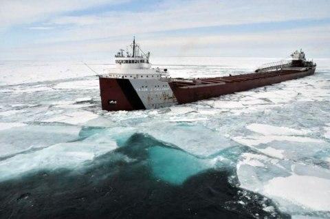 Cason J Calloway in Lake Superior Ice