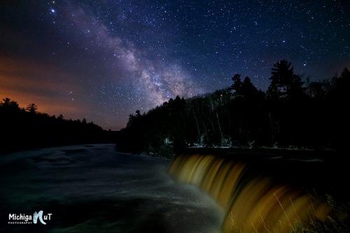 Milky Way at Tahquamenon Falls