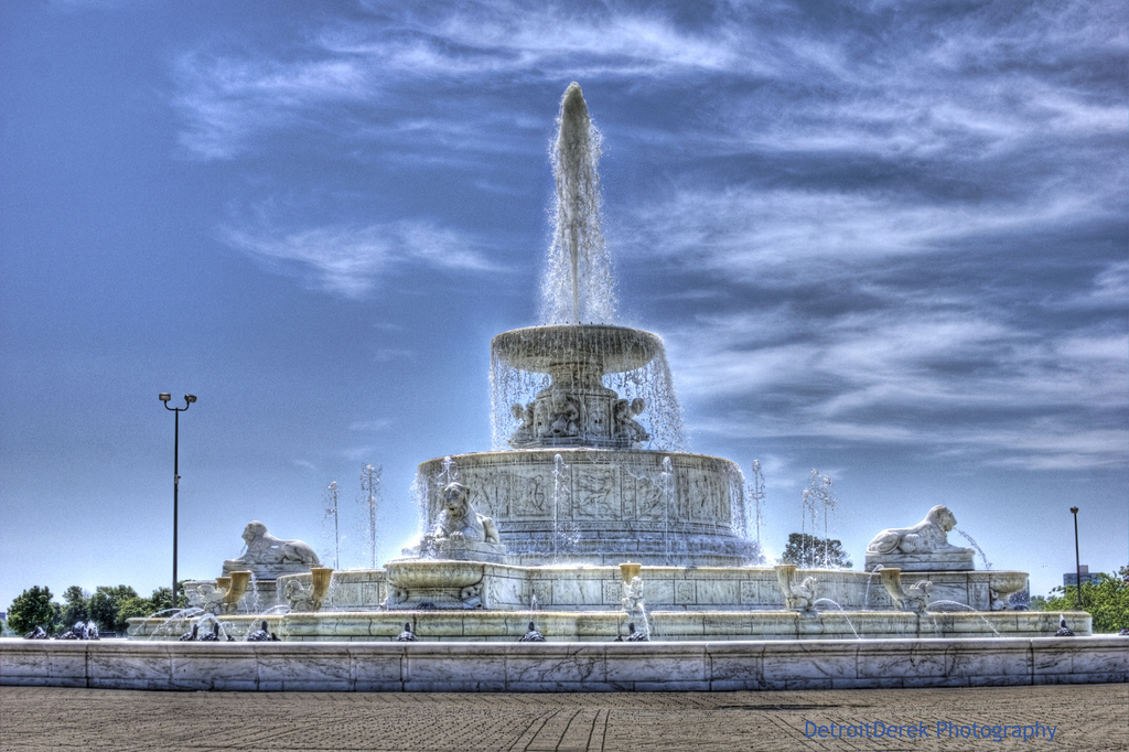 The Wizard Of Belle Isle S Scott Fountain Michigan In