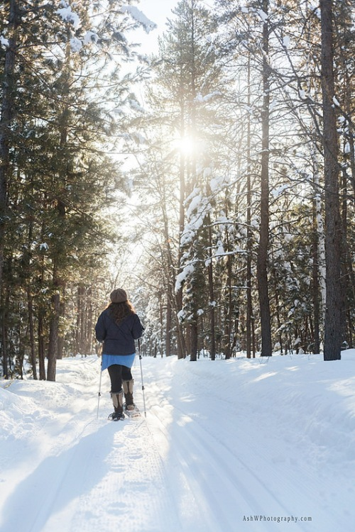 Snowshoeing the U.P.