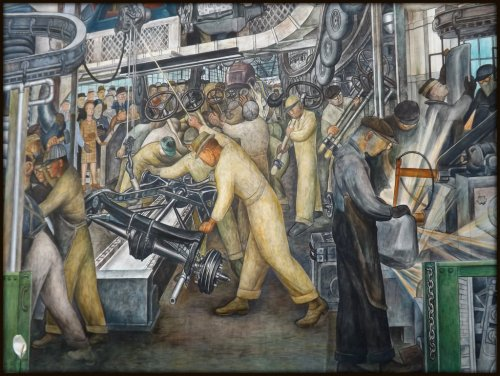 "Detroit Institute of Arts: ""Detroit Industry"" Murals, South Wall--Detroit MI"