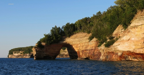 Lovers Leap in the Pictured Rocks