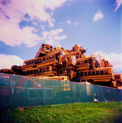 School Bus Heap by squareforever