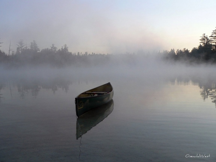 Canoe in the Fog by Brent West