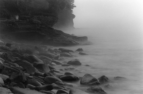 Presque Isle Fog by Mark Obrien