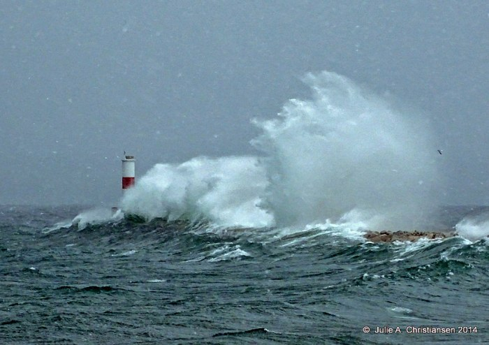 Petoskey Breakwater by Julie A Christiansen