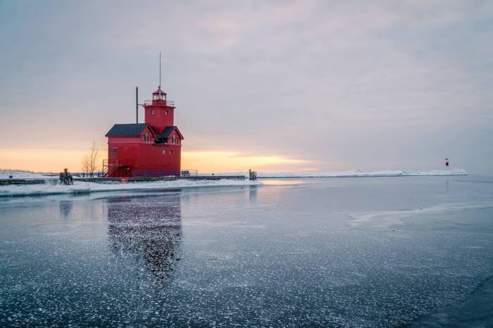 Big Red & Blue Ice