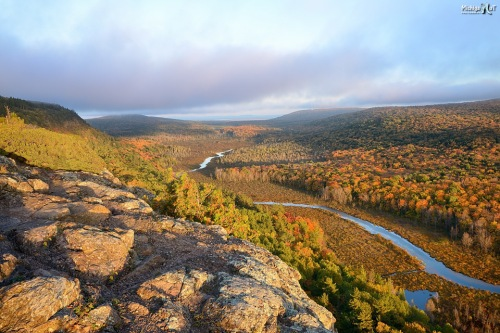Sunset over Lake of the Clouds, Porcupine Mountains