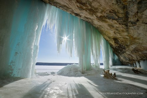 Ice Curtains at Grand Island