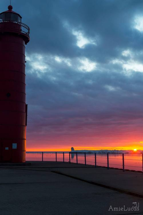 Sunset at Muskegon Lighthouse