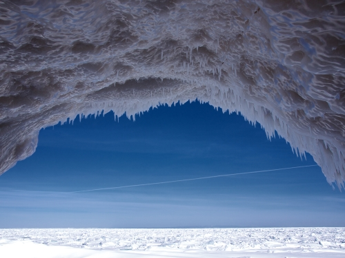 Whitefish Point Ice Cave by David Marvin