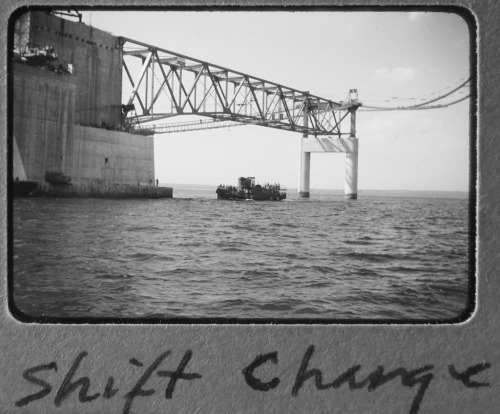 Shift Change at Mackinac Bridge