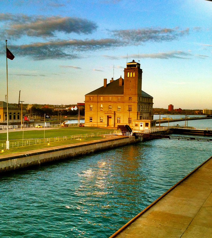 Sunset at the Soo Locks