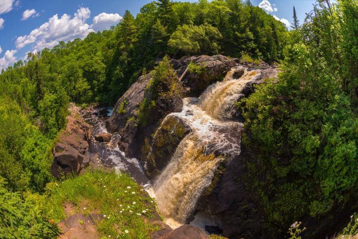 Gabbro Falls from Above