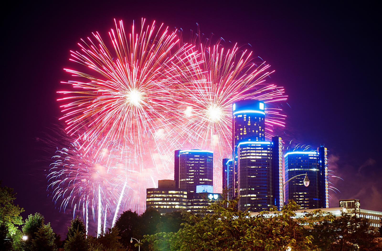 Renaissance Center Fireworks