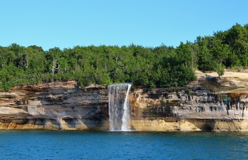 Spray Falls in the Pictured Rocks