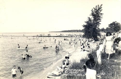 Beach Day at Port Austin Lake Huron