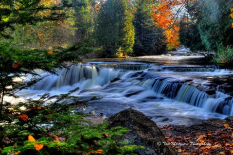 Bond Falls in Autumn