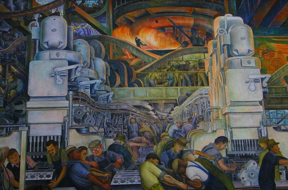 Detail of the Detroit Industry mural painted by Diego Rivera by Mala C, courtesy of Flickr